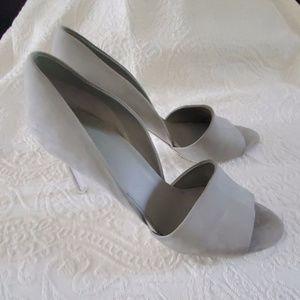 """Vince Shoes - VINCE """"Saffron"""" d'Orsay Gray Pumps"""